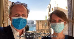 Aurélie de Lanlay, directrice adjointe & Christoph Wiesner, directeur des Rencontres d'Arles©rencontres-arles